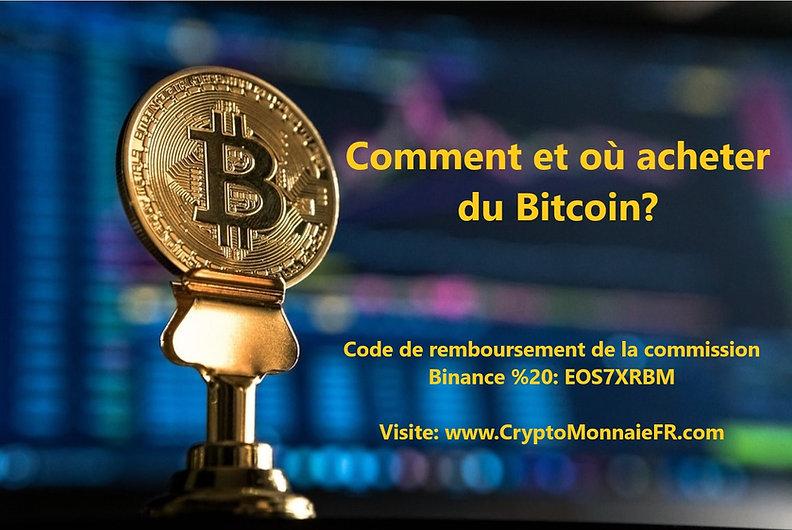 Comment et où acheter du Bitcoin
