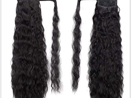Stamped Glorious 22 Inch Long Corn Wave Ponytail Extension Review