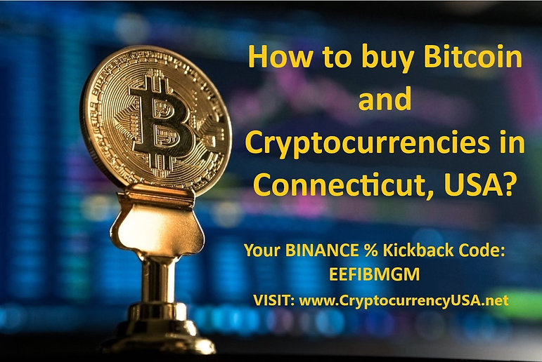How to buy Bitcoin and cryptocurrencies in Connecticut, USA?