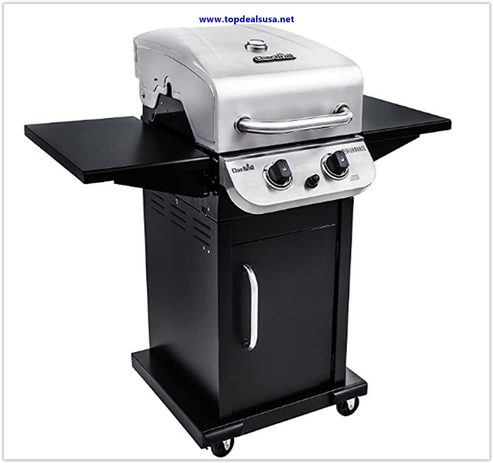 Best buy Char-Broil Performance 300 2-Burner Cabinet Liquid Propane Gas Grill- Stainless steel