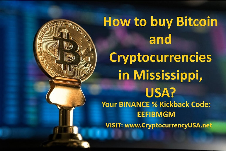 How to buy Bitcoin and cryptocurrencies in Mississippi, USA?