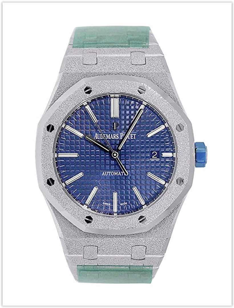 Audemars Piguet Royal Oak 41mm Frosted White Gold Men's Watch Price