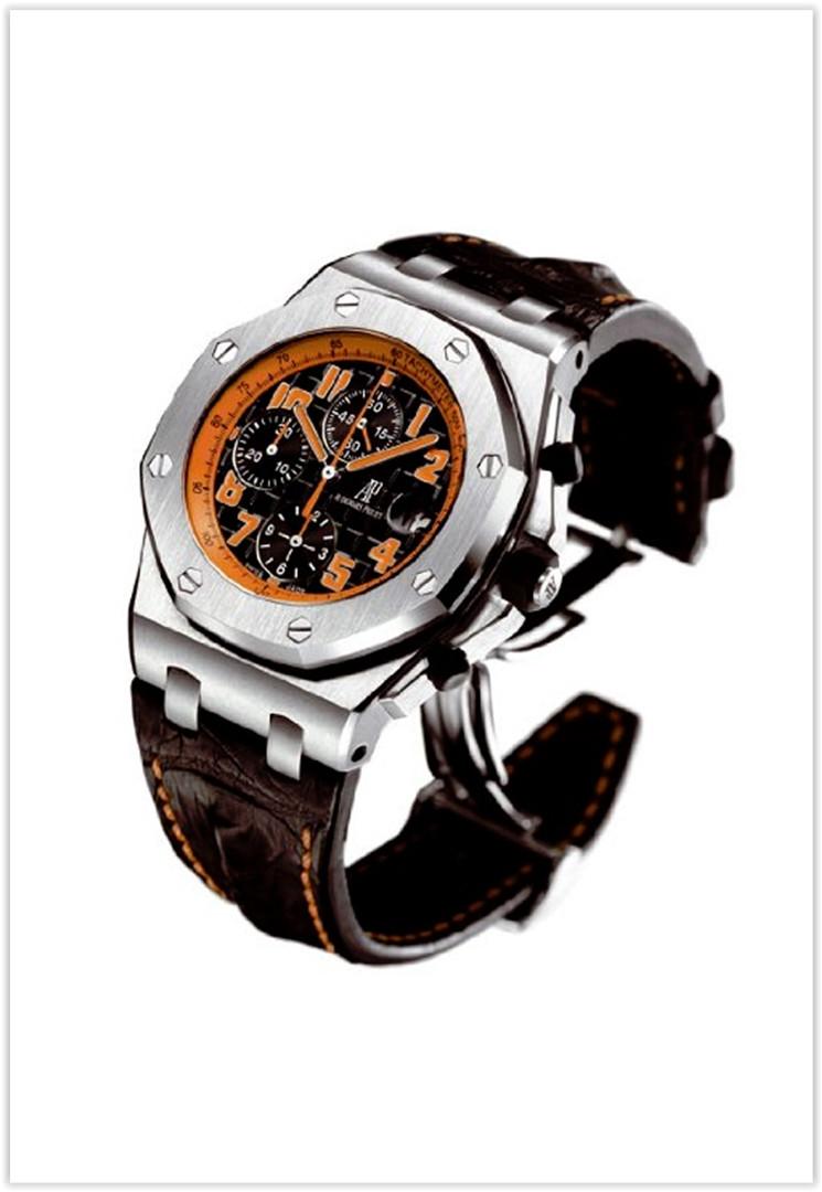 Audemars Piguet Royal Oak Offshore Black Leather Men's Watch Price