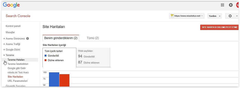 Google'a website haritası gönderme nasıl yapılır?
