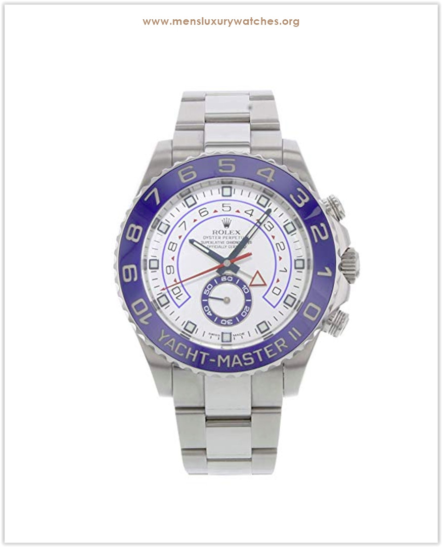 Rolex Yacht-Master II White Dial Blue Bezel Stainless Steel Automatic Men's Watch discount price
