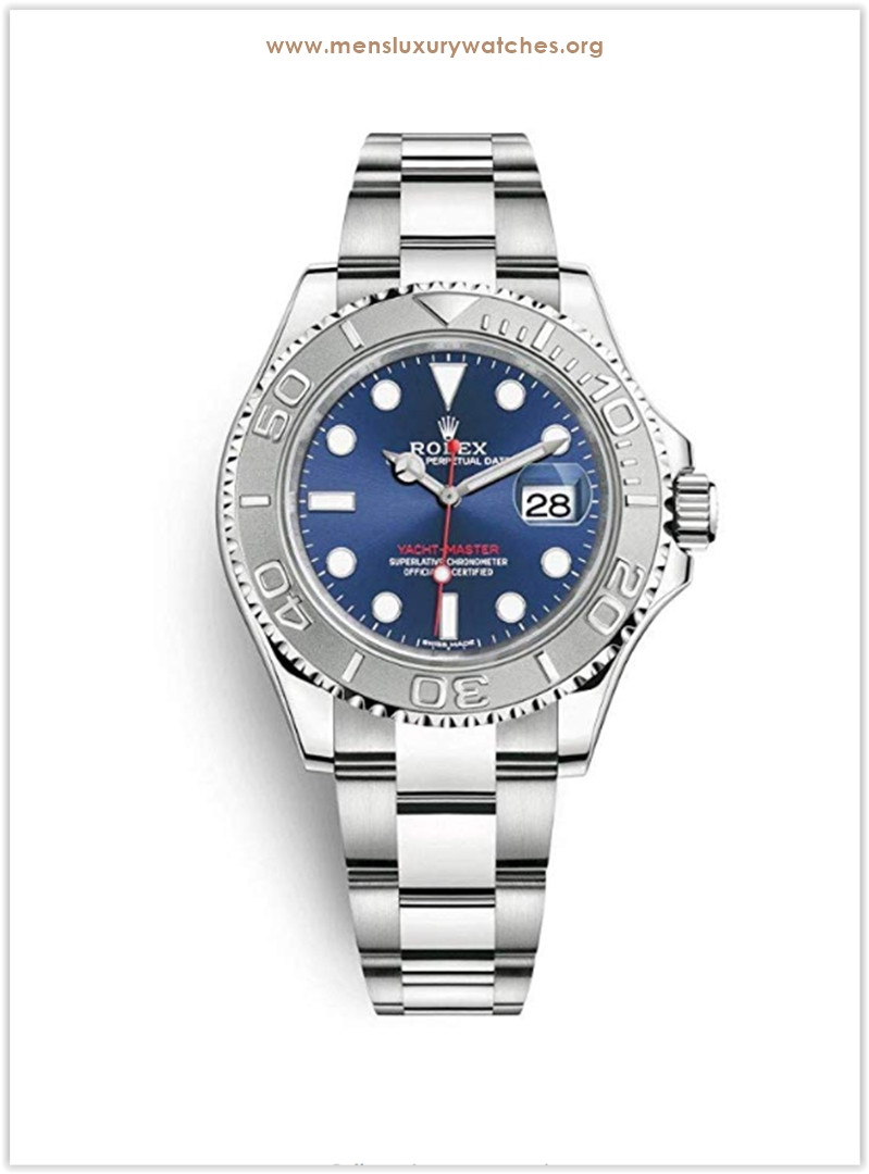 Rolex Yacht-Master with stainless-steel bezel and blue dial Men's Watch the best price