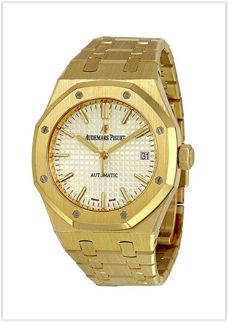 Audemars Piguet Royal Oak Silver Dial Automatic 18 Carat Yellow Gold Men's Watch Price