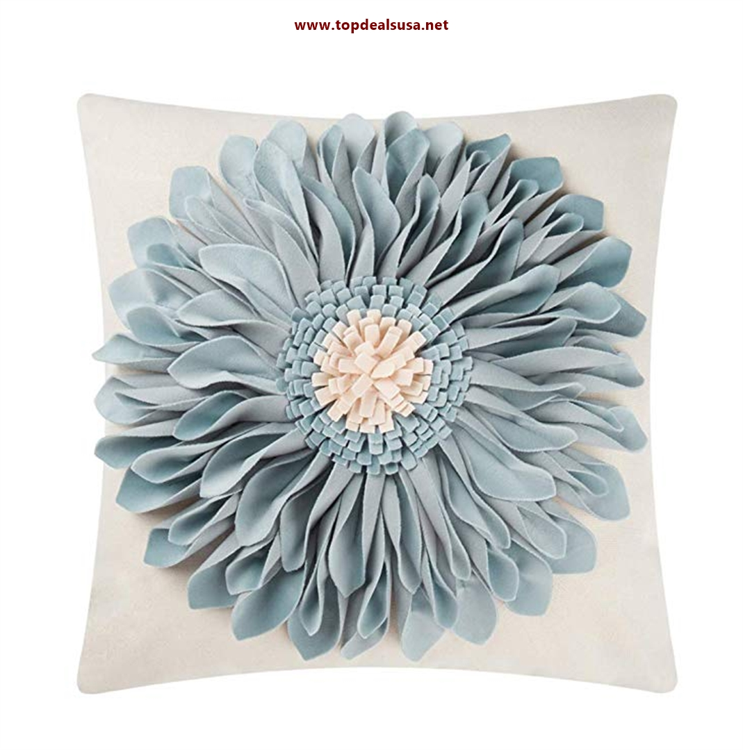 3D Sunflowers Handmade Throw Pillow Case