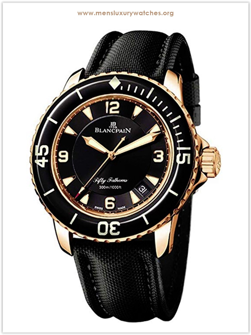 Blancpain Fifty Fathoms Gold Watch for men