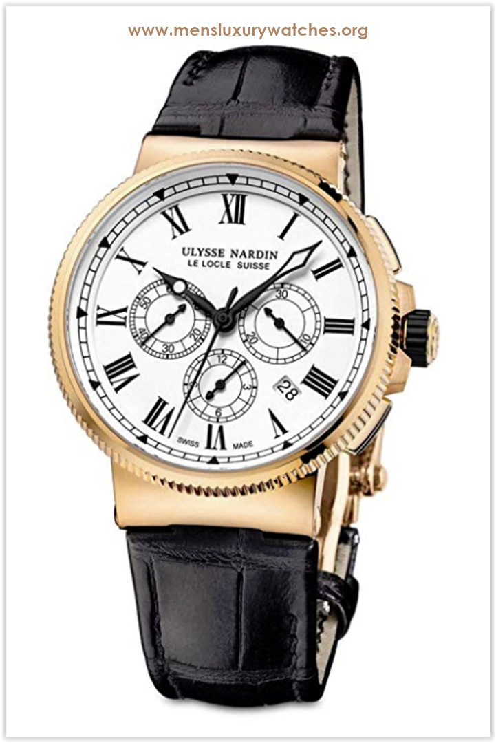 Ulysse Nardin Marine Chronograph Manufacture 18k Rose Gold 43mm Limited Edition Men's Watch the best price
