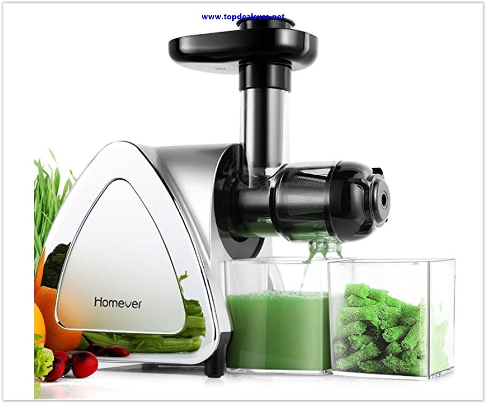 Best Buy Juicer Machines, Homever Slow Masticating Juicer Extractor Easy to Clean
