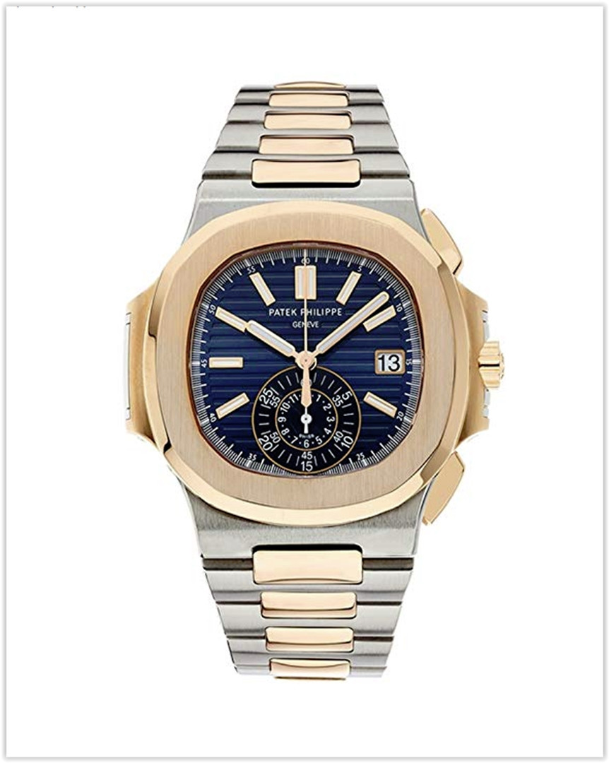 Patek Philippe Nautilus Stainless Steel & Rose Gold Watch Blue Dial Men's Watch best price