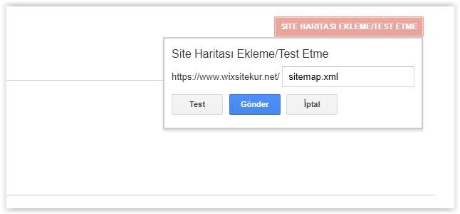 web site site haritası gönderme nasıl yapılır?