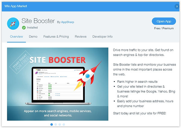 Site booster