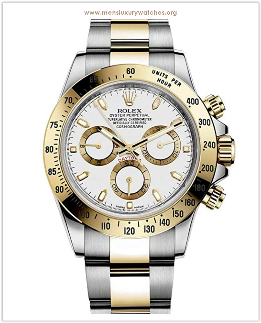 Rolex Daytona Grey Chronograph Steel And Yellow Gold Men's Watch discount price