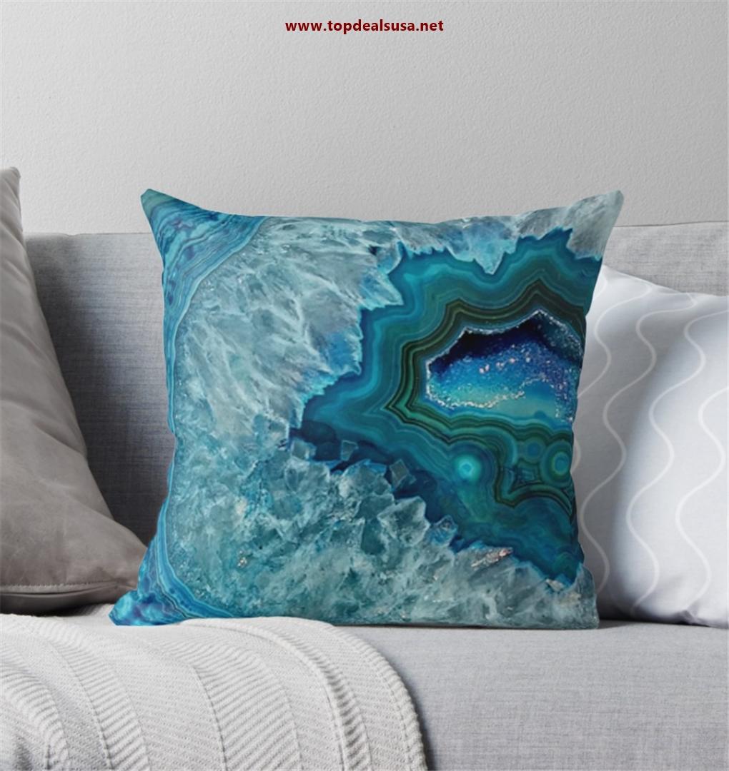 Teal Aqua Turquoise Blue Rock Agate Mine