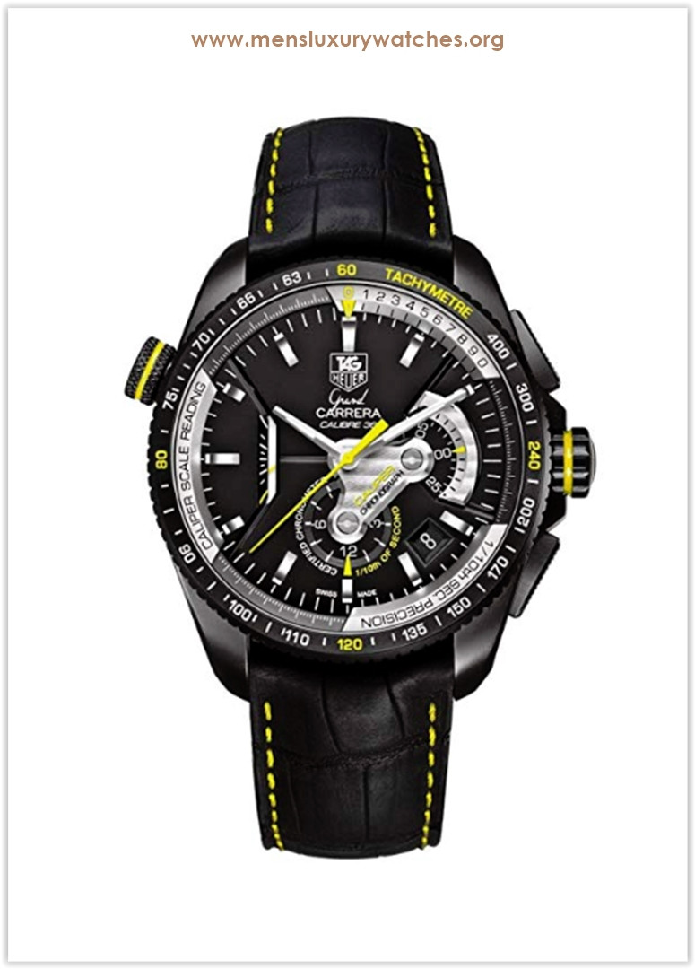 Tag Heuer Grand Carrera Automatic Chronograph Black Yellow Titanium Men's Watch Price