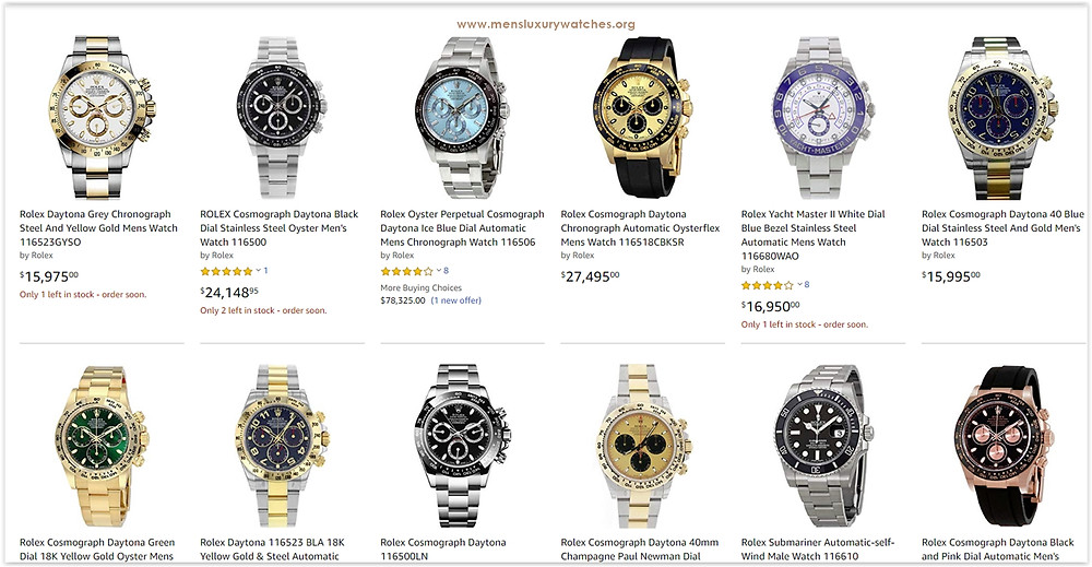 Discounted Rolex Daytona men's watches with limited stock