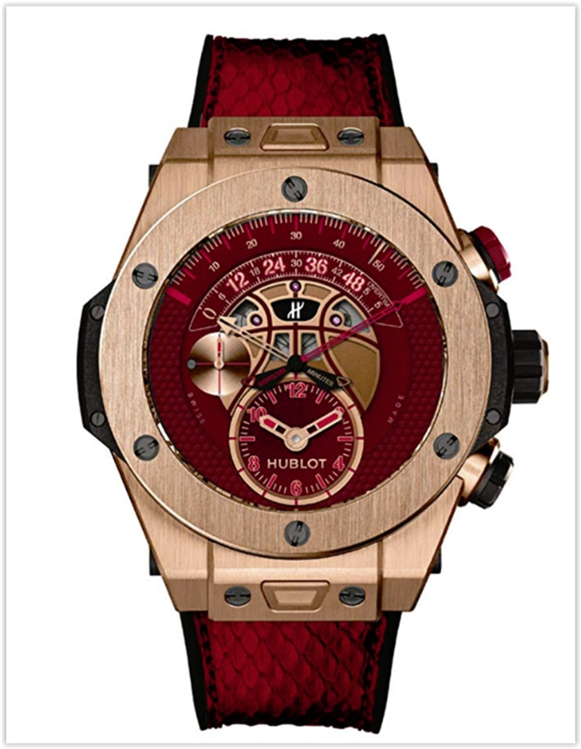 Hublot Kobe Vino Bryant Limited Edition Unico 18ct Rose Gold-Burgundy