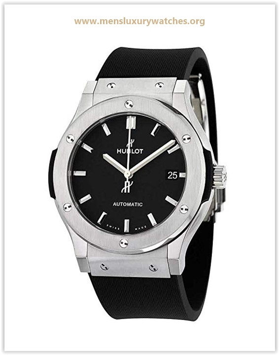Hublot Classic Fusion Black Dial Black Rubber Mens 45mm Watch Price May 2019