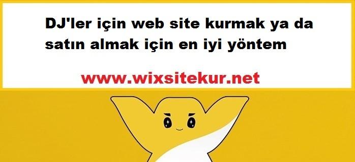 DJ'ler için web site kurmak ya da satın almak için en iyi yöntem