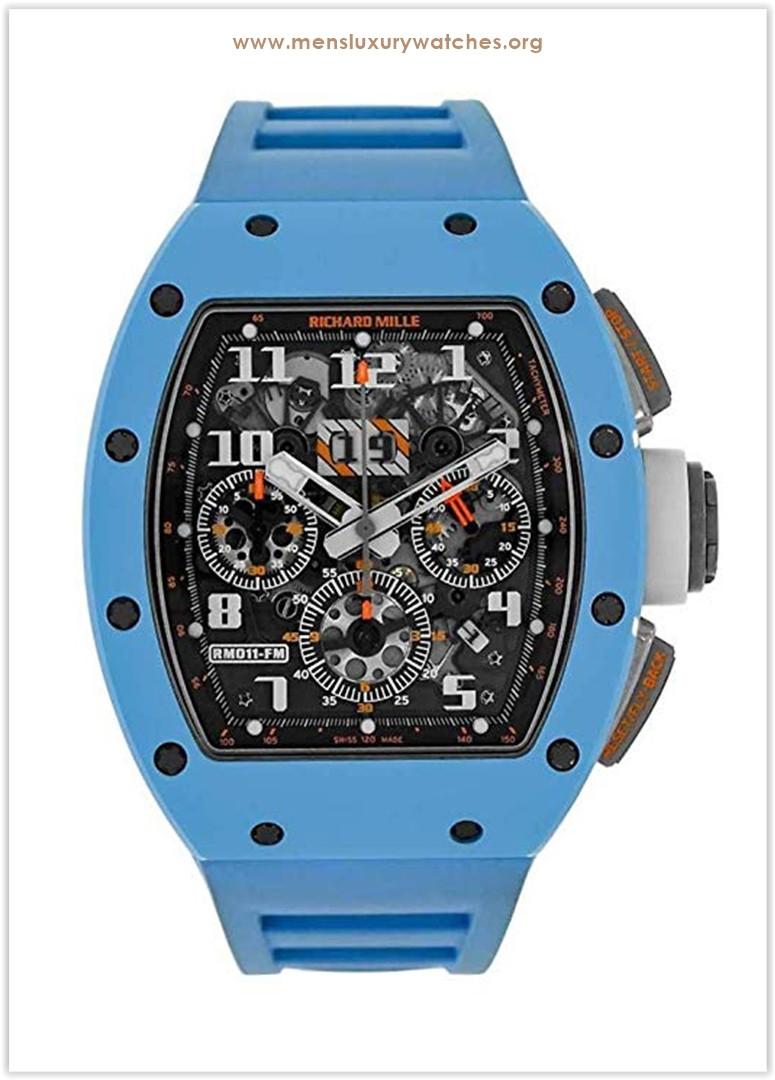 Richard Mille Felipe Massa Chronograph Baby Blue Ceramic Last Edition RM011