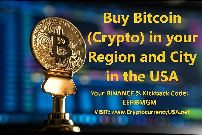Buy Bitcoin (Crypto) in your Region and city in the USA