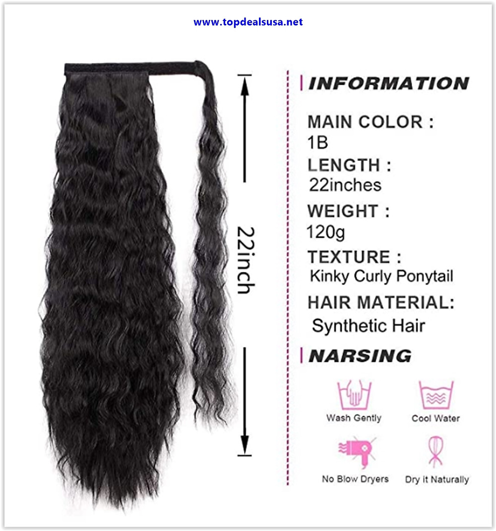 Stamped Glorious 22 Inch Long Corn Wave Ponytail Extension Deals