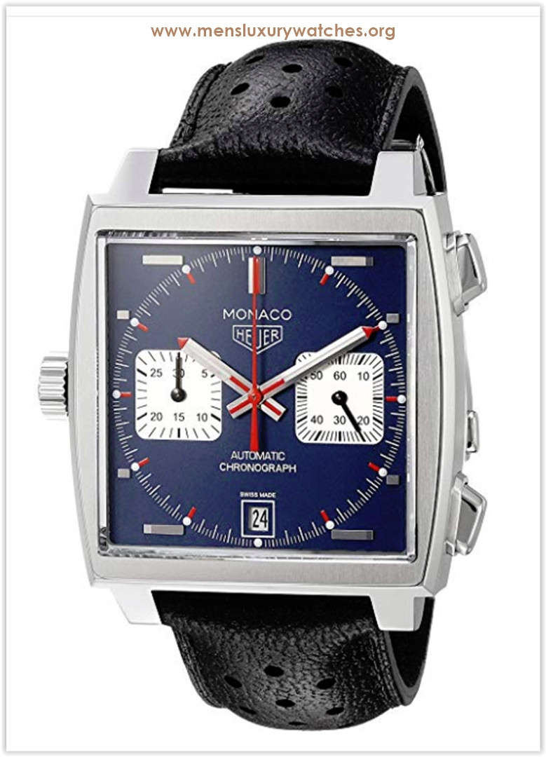 TAG Heuer 'Monaco' Swiss Automatic Stainless Steel and Leather Dress Men's Watch Price
