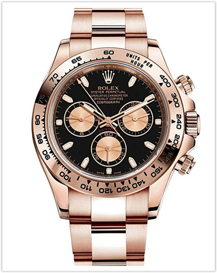 Rolex Daytona Everose Gold Watch With Black Dial Watch