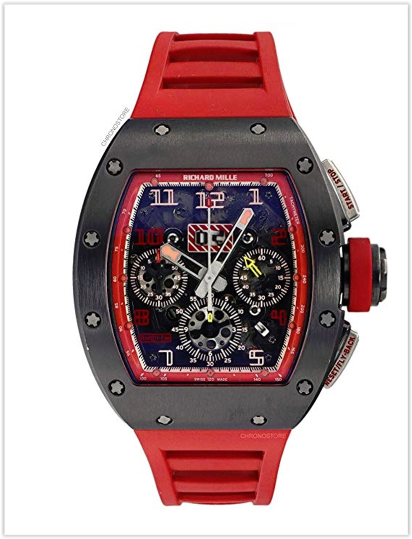 Richard Mille RM011 1st Singapore GP Titanium Red Rubber Automatic Mens Watch Price