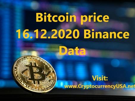 Bitcoin price 16.12.2020 in The USA Binance data