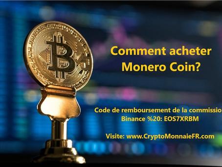 Comment acheter Monero XMR Coin?