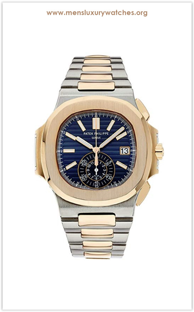 Patek Philippe Nautilus Stainless Steel & Rose Gold Men's Watch Blue Dial the best price