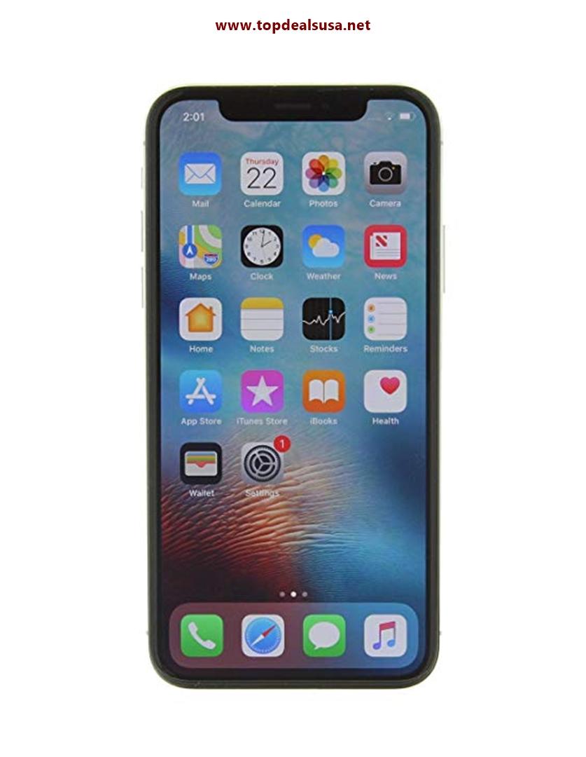 Apple iPhone X, GSM Unlocked, 64GB