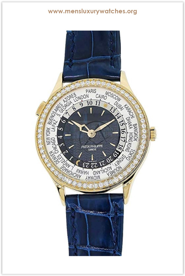 Patek Philippe Complications New York World Time 36MM Diamond Bezel Rose Gold Ladies Watch Price