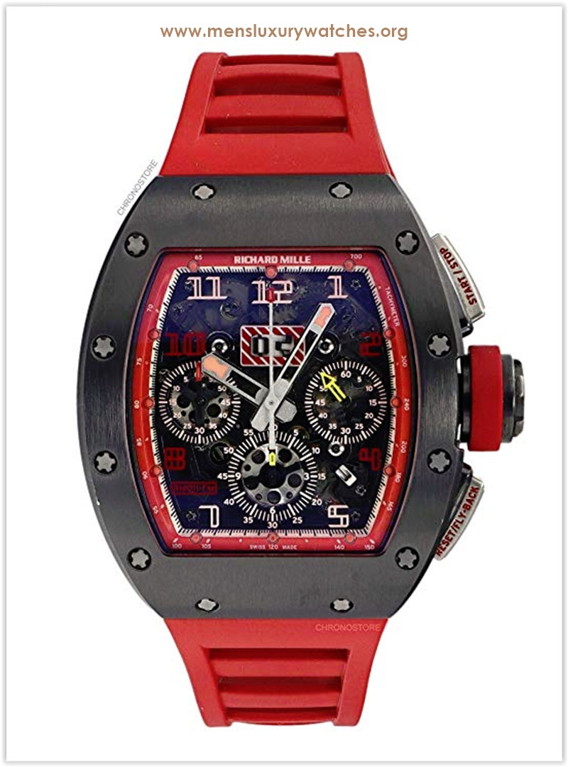 Richard Mille RM011 1st Singapore GP Titanium Red Rubber Automatic Men's Watch the best price