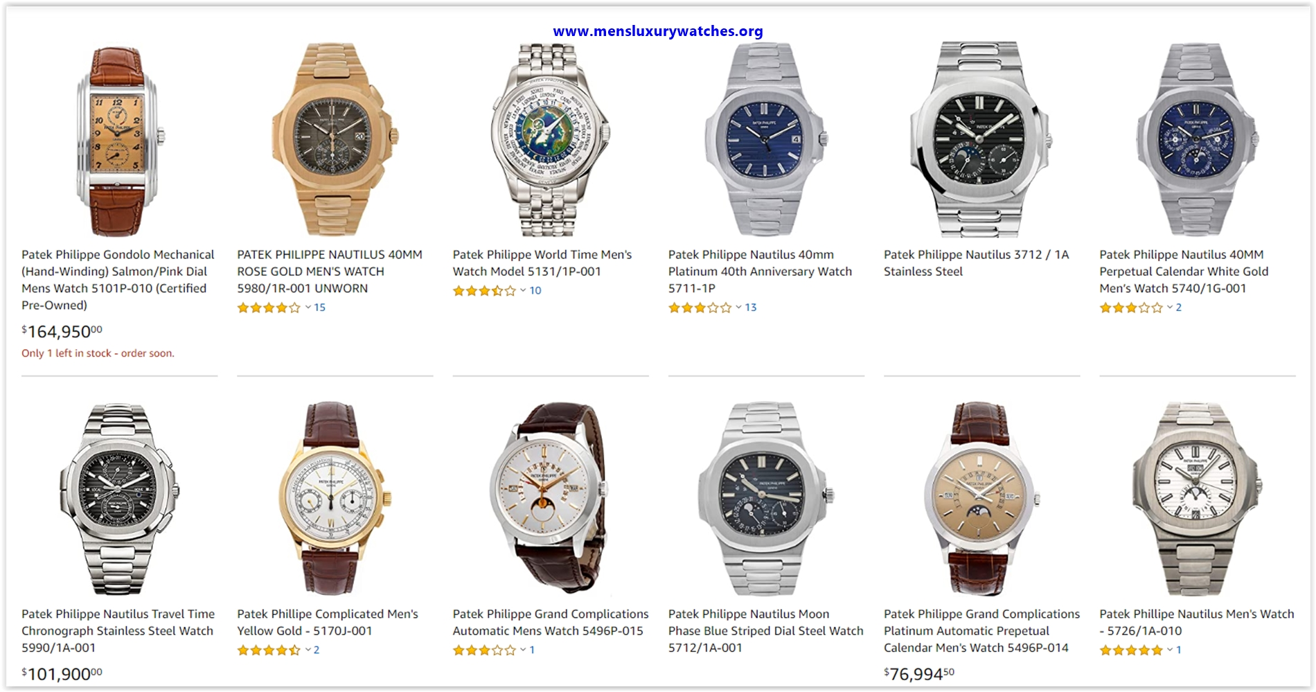 Top 10 Patek Philippe Watches for your collection