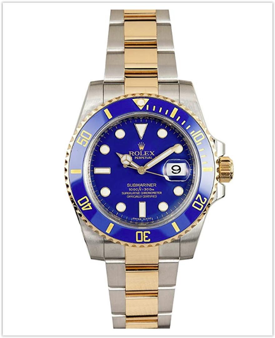 Rolex Submariner Stainless Steel Yellow Gold Watch Blue Ceramic Watch best price