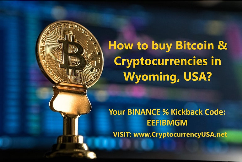 How to buy Bitcoin & Cryptocurrencies in Wyoming, USA?