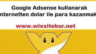 Google Adsense kullanarak internetten dolar ile para kazanmak