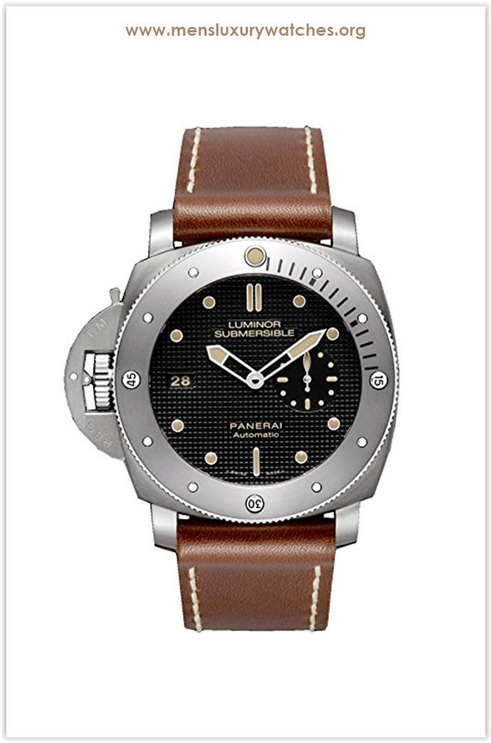 Panerai Luminor 1950 Black Dial Titanium Automatic Mens Watch Price