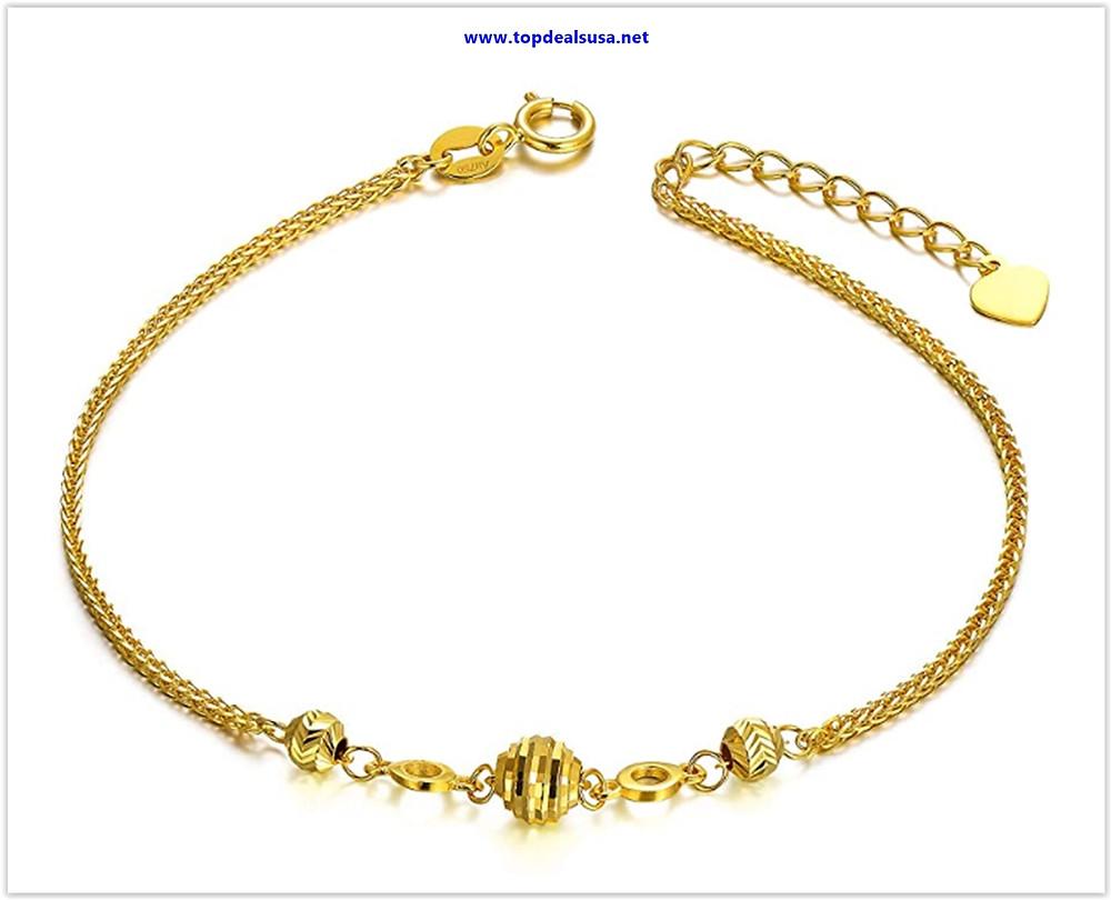 Best buy 18K Gold Bracelets for Women, Dainty Yellow Gold