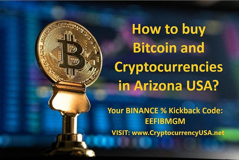 How to buy Bitcoin and Cryptocurrencies in Arizona, USA?