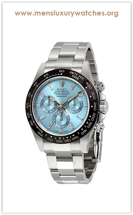 Rolex Oyster Perpetual Cosmograph Daytona Ice Blue Dial Automatic Men's Chronograph Watch