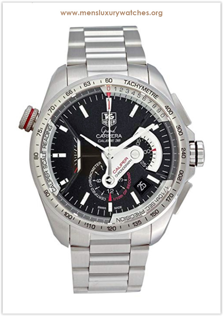 TAG Heuer Grand Carrera Automatic Chronograph Black Dial Men's Watch Best Price