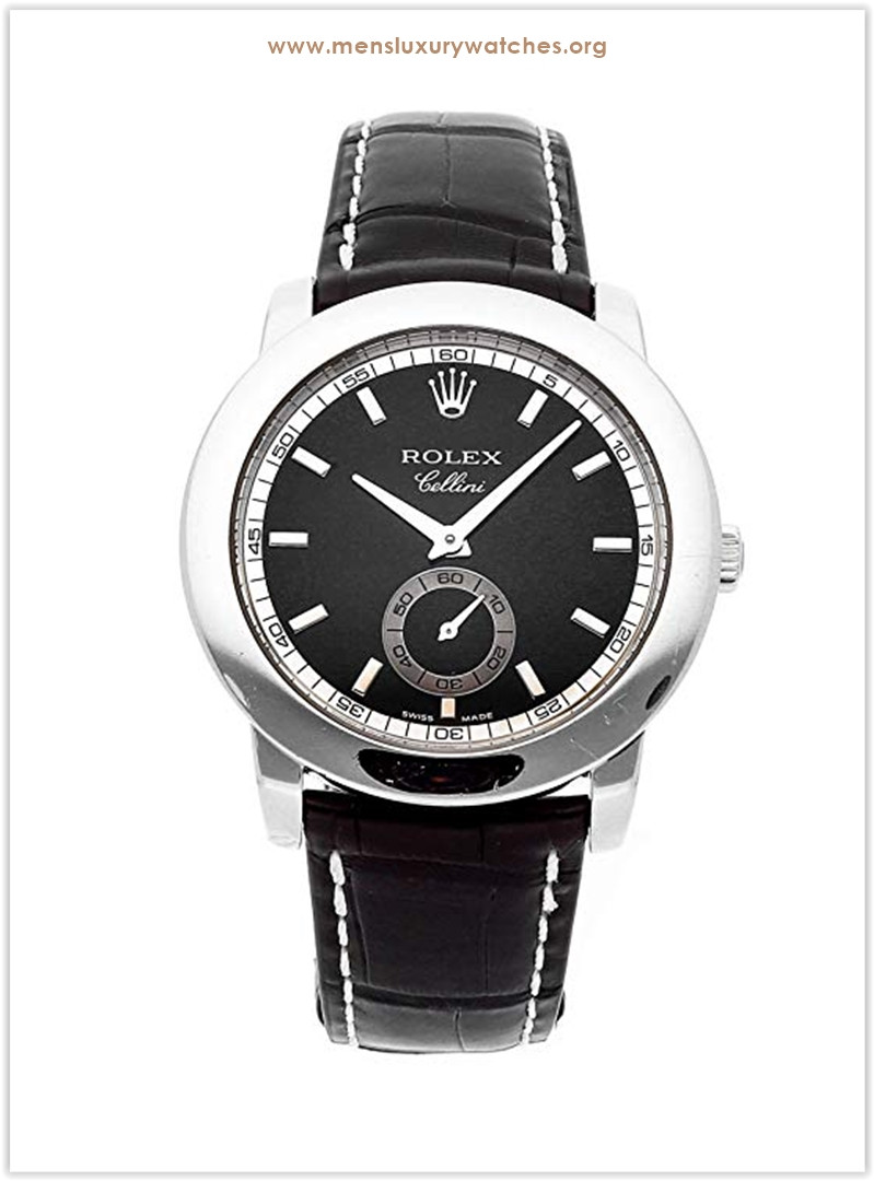 Rolex Cellini Mechanical (Hand-Winding) Black Dial Men's Watch the best price