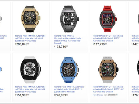 Richard Mille Men's watches price list