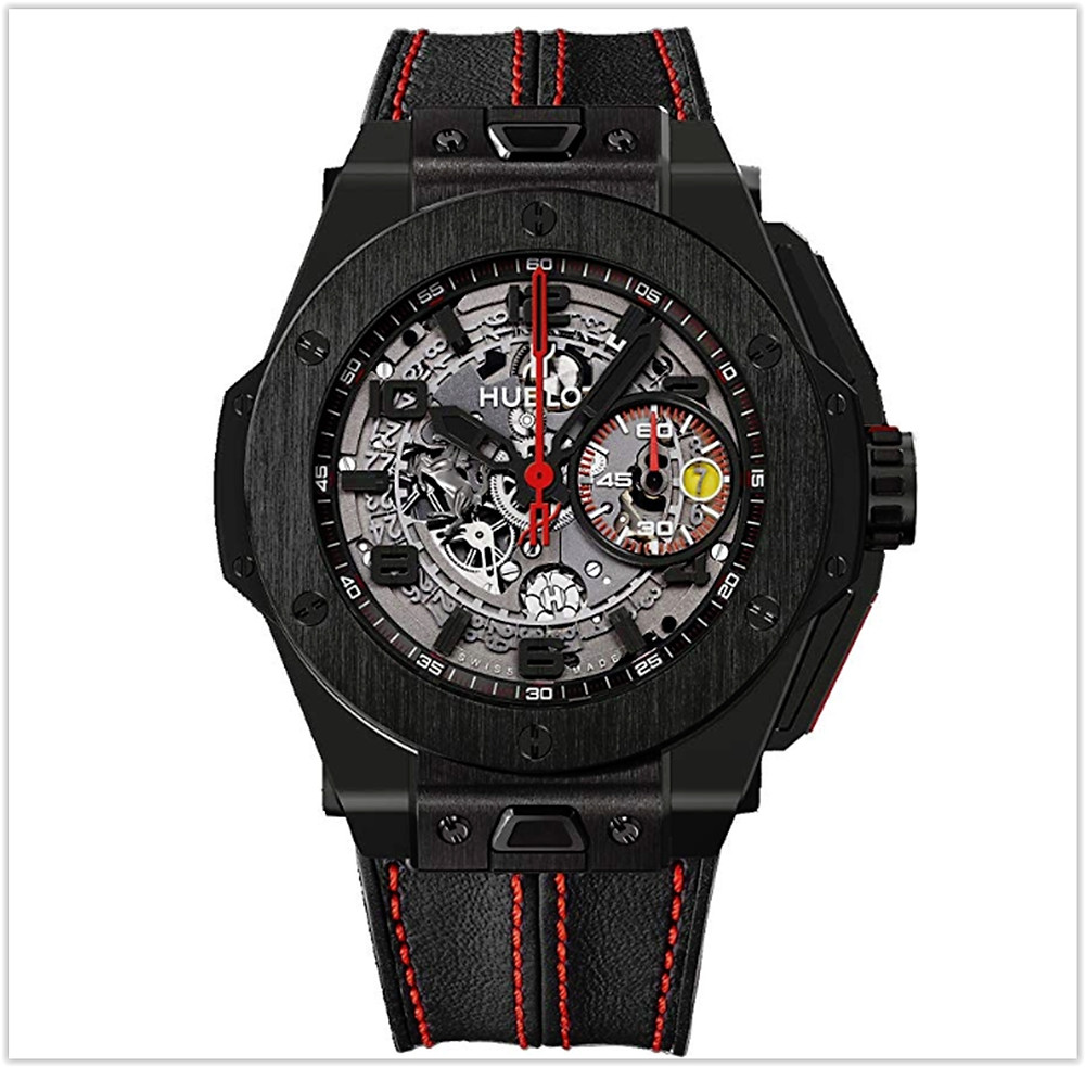 Hublot Ferrari All Black Automatic Openwork Dial Black Ceramic Men's Watch buy online