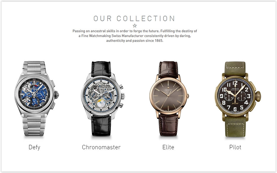 The Zenith Online Watch Store